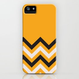 Orange Zigzag iPhone Case