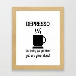 Depresso Framed Art Print