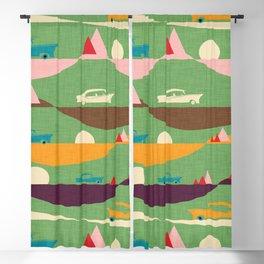 50s Retro Road Trip Green #midcenturymodern Blackout Curtain
