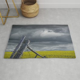 Canola Field in Southern Alberta Rug