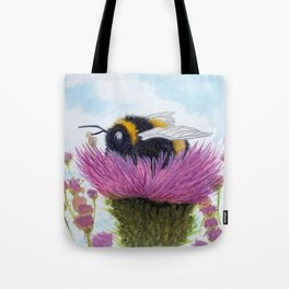 Bumblebee on a Thistle Tote Bag