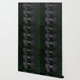 coco vintage bow forest green Wallpaper