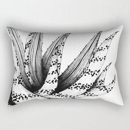 Monochrome Aloe Print Rectangular Pillow