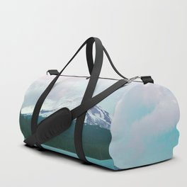 Mountain Lake - Nature Photography - Turquoise Teal Pink Duffle Bag