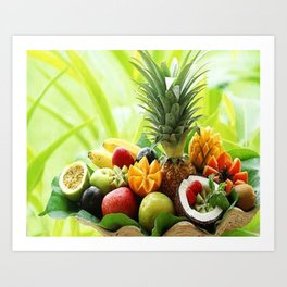 nice fruits Art Print
