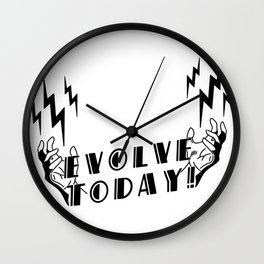 Evolve Today - Electro Bolt Wall Clock