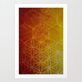 Honeycomb Flower of Life Art Print