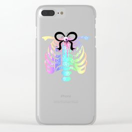 Pastel Rainbow Ribcage Alternate Clear iPhone Case