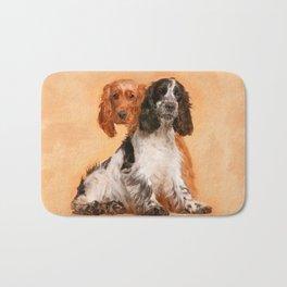 English Cocker Spaniel Dog Digital Art Bath Mat