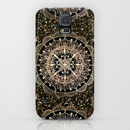 Rose Gold Mandalas with Brown and Copper Sparkles iPhone Case