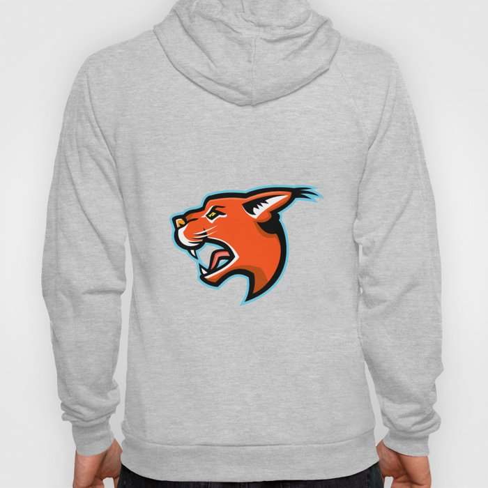 Caracal Head Side Mascot Hoody