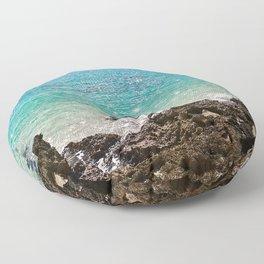 The Rocky Sea Shores of Cayman Island Floor Pillow