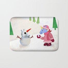 Snow Unicorn V02 Bath Mat