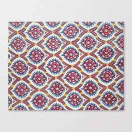 Floral Fabric Vintage Material Canvas Print