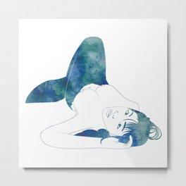 Opal Mermaid Metal Print