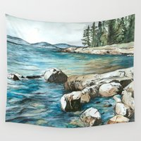 maine Wall Tapestries featuring Maine by Micaela Payne
