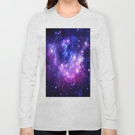 Purple Blue Galaxy Nebula Long Sleeve T-shirt
