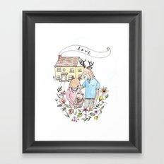 New Family Framed Art Print