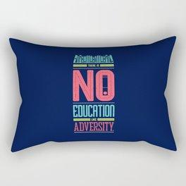 Lab No. 4 Education Like Adversity Benjamin Disraeli Inspirational Quotes Rectangular Pillow