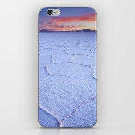 I - Salt flat Salar de Uyuni in Bolivia at sunrise iPhone Skin