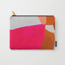 Abstract in Pink, Brown and Grey Carry-All Pouch