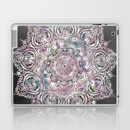 Dreams Mandala - Magical Purple on Gray Laptop & iPad Skin