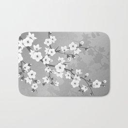 Only Gray Cherry Blossom Bath Mat
