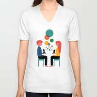 child V-neck T-shirts featuring Soul Communication by Andy Westface