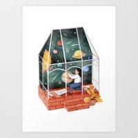 solar system Art Prints featuring Solar system by Manca Flajs