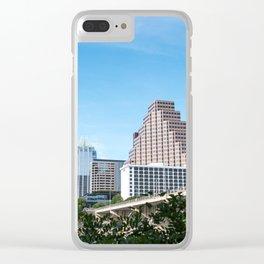 Austin Skyline Clear iPhone Case