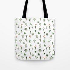 Green plants pattern Tote Bag