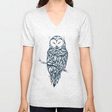 Snow Owl Unisex V-Neck