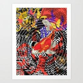Koi of Greece Art Print