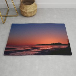 Mt._Iliamna Winter Sunset Rug
