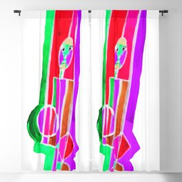 Man with Colorful Geometry in Pink-Red-Green Blackout Curtain