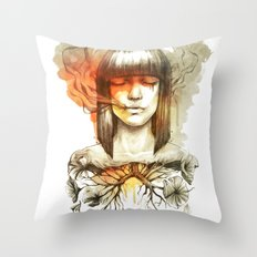 Evil's Smoke Throw Pillow