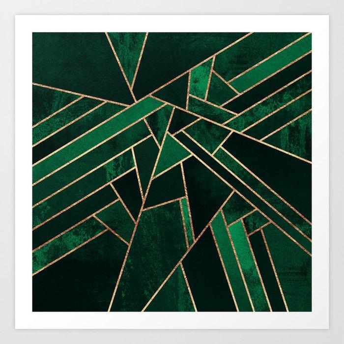 Emerald Night Art Print