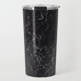 Gray Black Marble #1 #decor #art #society6 Travel Mug