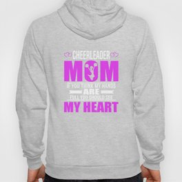 Cheerleader Moms Full Heart Mothers Day T-Shirt Hoody