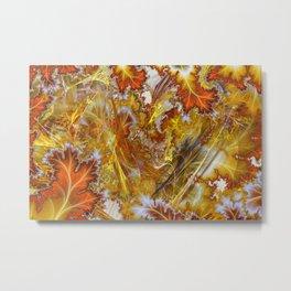 Autumn Mania Abstract Art Metal Print