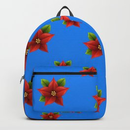 Red Flowers Pattern Backpack