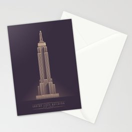Empire State Building New York Art Deco - Vintage Dark Stationery Cards