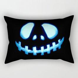 halloween Jack O Lantern Blue Rectangular Pillow