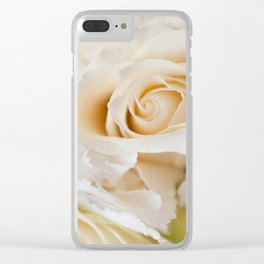 Wedding white flowers bouquet Clear iPhone Case