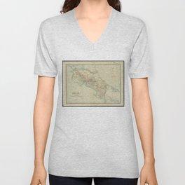 Vintage Map of Costa Rica (1903) Unisex V-Neck