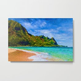 Pacific Isles, A Landscape Painting by Jeanpaul Ferro Metal Print