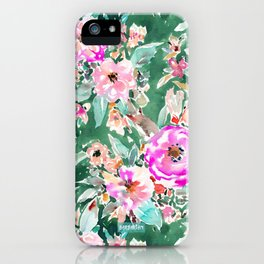 WANDERLUSH Colorful Floral iPhone Case