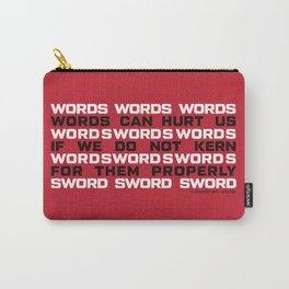WORDS Carry-All Pouch