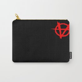 Vagenda Basic Red Logo Over Black Carry-All Pouch