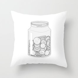 The Swear Jar Throw Pillow